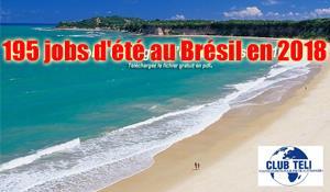 JOBS ET STAGES D'ETE AU BRESIL 2018