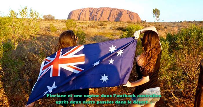 Floriane dans le désert australien