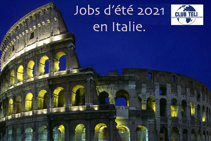 jobs d'été en Italie en 2021