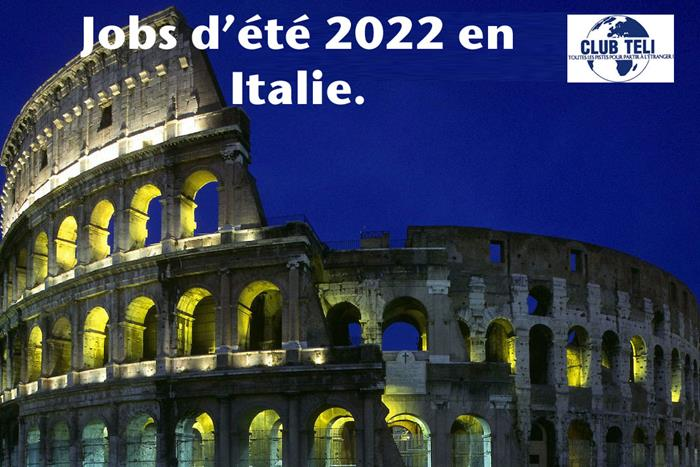 jobs d'été en Italie en 2022