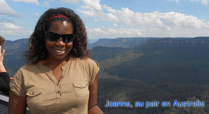 Joanne au pair en Australie