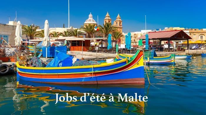 Jobs d'été à Malte 2021