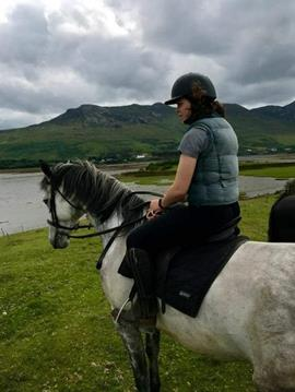 Cavalière en Irlande